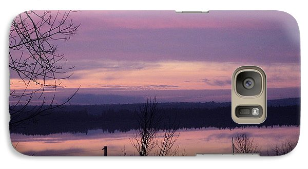 Galaxy Case featuring the photograph Purple Sunrise by Jesslyn Fraser