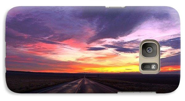 Galaxy Case featuring the photograph Purple Sunrise by Lynn Hopwood