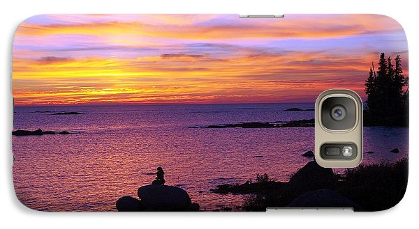 Galaxy Case featuring the photograph Purple Sunset 2 by Sheila Byers