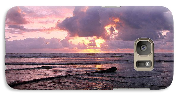 Galaxy Case featuring the photograph Purple Pink Sunset by Athena Mckinzie