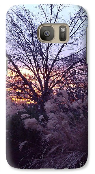 Galaxy Case featuring the photograph Purple Sunset by Lyric Lucas