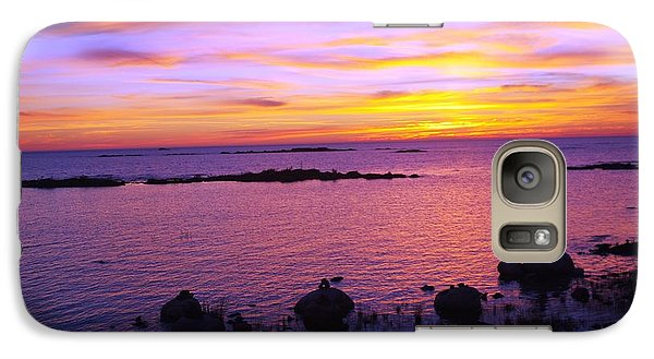 Galaxy Case featuring the photograph Purple Sunset by Sheila Byers