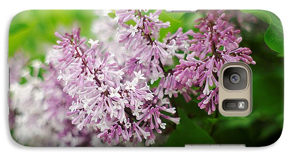 Galaxy Case featuring the photograph Purple Syringa Flowers by Suzanne Powers