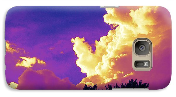 Galaxy Case featuring the photograph Purple Thunder by Deborah Fay