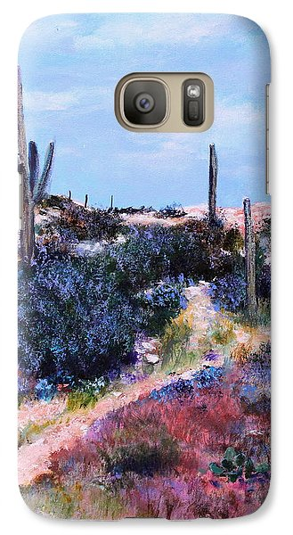 Galaxy Case featuring the painting Purple Time Of Day by M Diane Bonaparte
