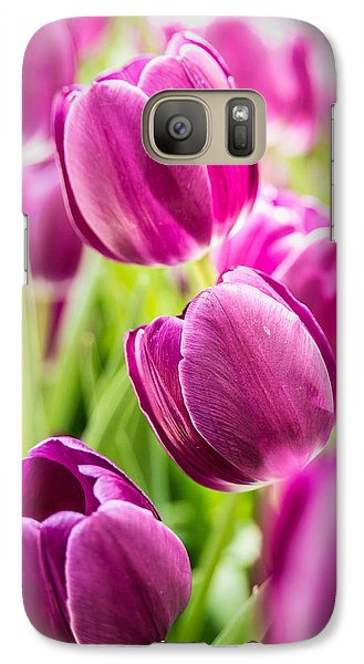 Purple Tulip Garden Galaxy S7 Case