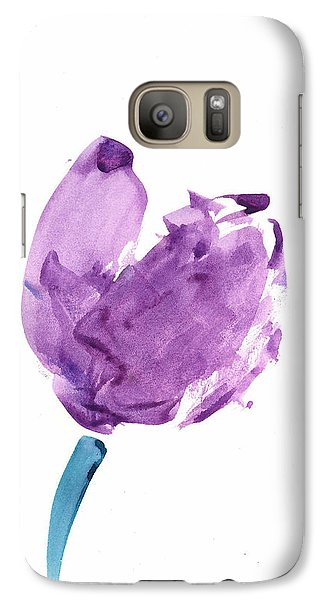 Galaxy Case featuring the mixed media Purple Tulip Mixed Media by Frank Bright