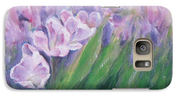 Galaxy Case featuring the painting Purple Tulips  by Jane  See