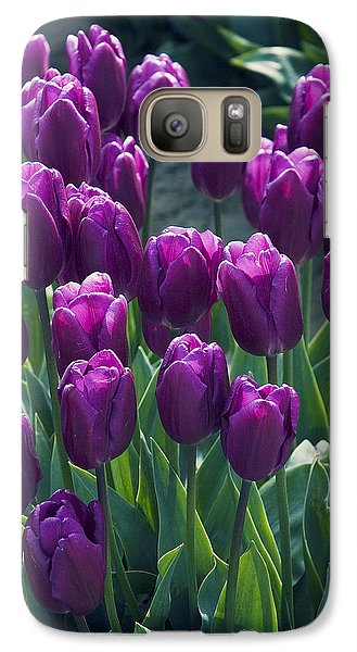 Purple Tulips Galaxy S7 Case