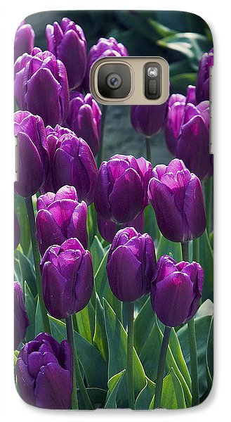 Purple Tulips Galaxy S7 Case