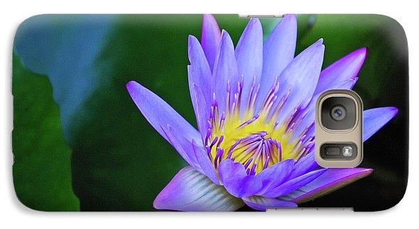 Purple Water Lily Galaxy S7 Case