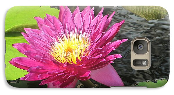 Galaxy Case featuring the photograph Purple Water Lily by Richard Reeve