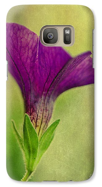 Galaxy Case featuring the photograph Purple Wave Petunia by MaryJane Armstrong