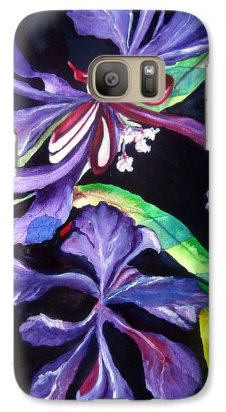 Galaxy Case featuring the painting Purple Wildflowers by Lil Taylor