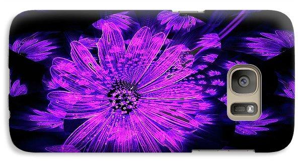 Galaxy Case featuring the digital art Purple Wisps Of Flower by Amanda Eberly-Kudamik