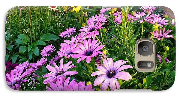 Galaxy Case featuring the photograph Purple Yellow Green by Alan Lakin