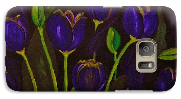 Galaxy Case featuring the painting Purpleluscious by Celeste Manning