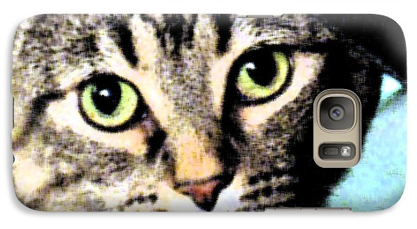 Galaxy Case featuring the photograph Purrfectly Bright Eyed by Nina Silver