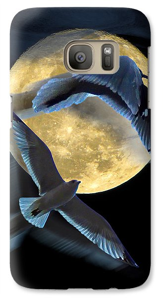 Galaxy Case featuring the photograph Pursuit Over The Moon. by Glenn Feron
