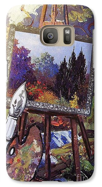 Galaxy Case featuring the painting Put Color In Your Life by Eloise Schneider