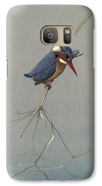 Kingfisher Galaxy S7 Case - Pygmy Kingfisher by Dreyer Wildlife Print Collections