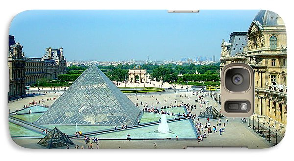 Galaxy Case featuring the photograph Pyramid At The Louvre by Kay Gilley