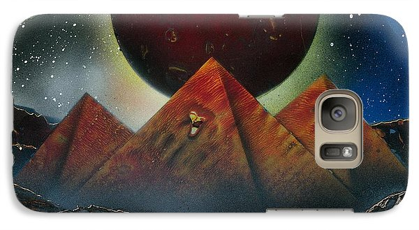 Galaxy Case featuring the painting Pyramids 4663 by Greg Moores