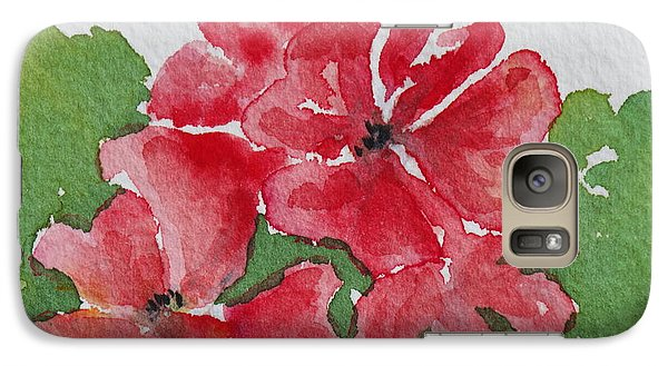Galaxy Case featuring the painting Pzzzazz by Mary Ellen Mueller Legault