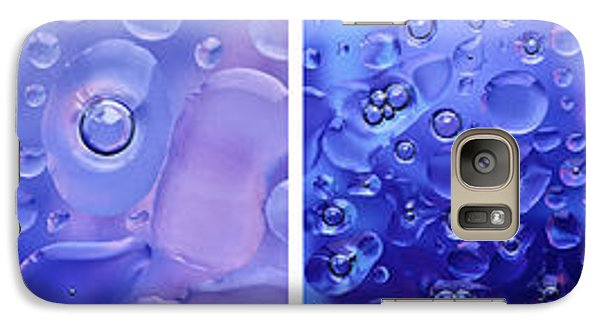 Galaxy Case featuring the photograph Quadryptich Of Colorful Water Bubbles by Peter v Quenter