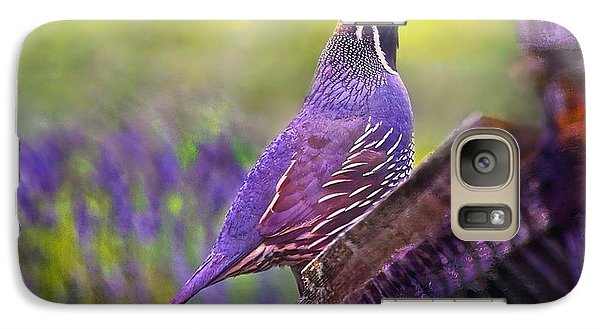 Galaxy Case featuring the digital art Quail In Lavender by Kari Nanstad