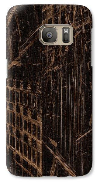Galaxy Case featuring the digital art Quake - Ground Zero by GJ Blackman