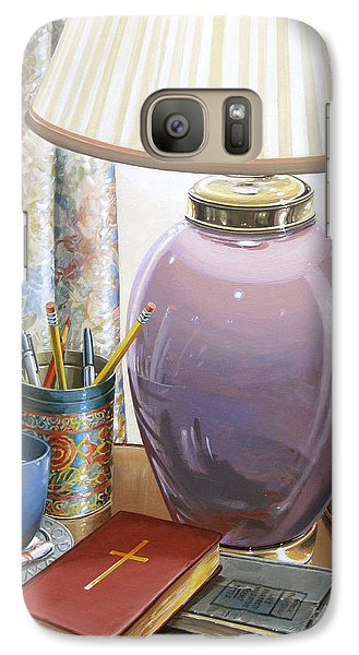 Galaxy Case featuring the painting Quality Time by Bob  George