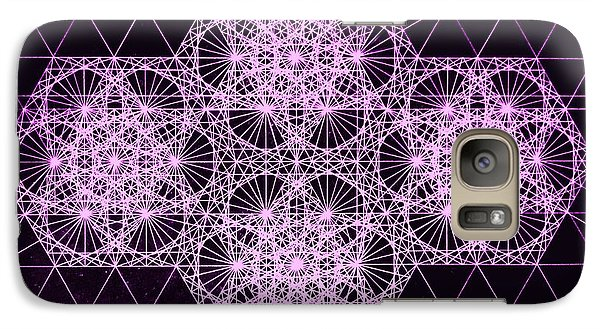 Galaxy Case featuring the drawing Quantum Snowfall by Jason Padgett