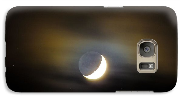 Galaxy Case featuring the photograph Quarter Moon by Judy Wolinsky