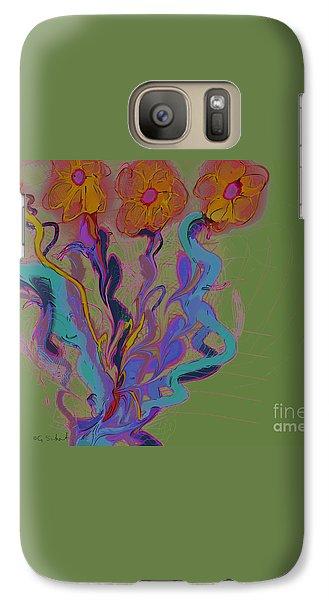 Galaxy Case featuring the digital art Quartet by Gabrielle Schertz