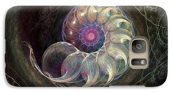 Galaxy Case featuring the digital art Queen Ammonite by Kim Redd