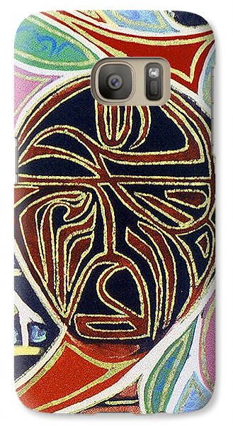 Galaxy Case featuring the painting Queen by Carolyn Goodridge
