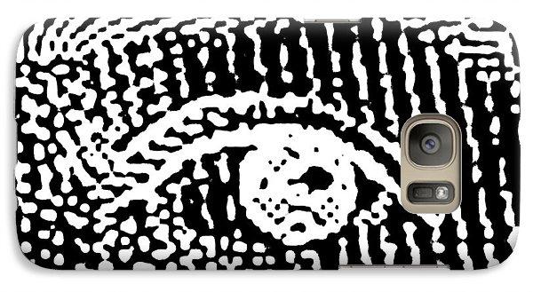 Galaxy Case featuring the digital art Queen Elizabeth's Eyes by Vagabond Folk Art - Virginia Vivier