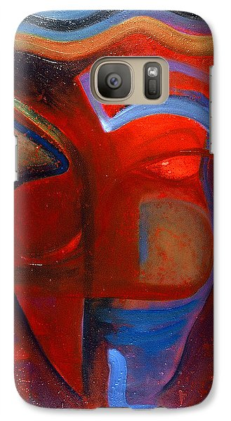 Galaxy Case featuring the painting Queen II by Carolyn Goodridge