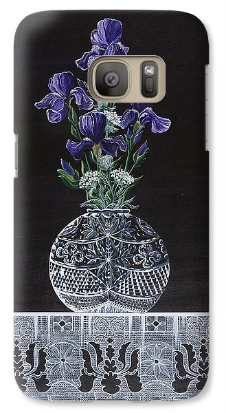 Galaxy Case featuring the painting Queen Iris's Lace by Jennifer Lake