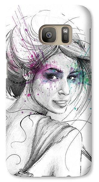 Fairy Galaxy S7 Case - Queen Of Butterflies by Olga Shvartsur