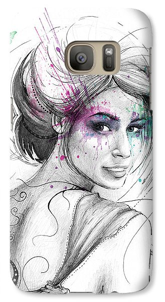 Queen Of Butterflies Galaxy Case by Olga Shvartsur