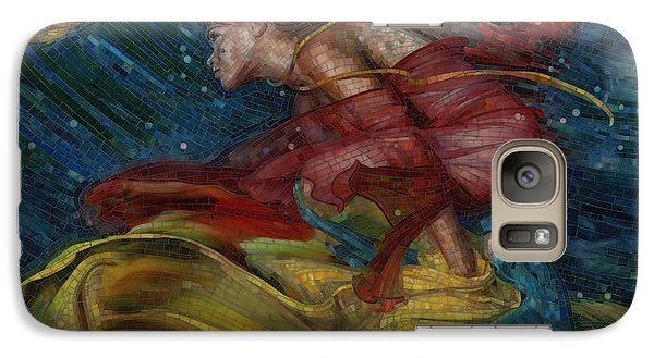 Galaxy Case featuring the painting Queen Of The Angels by Mia Tavonatti