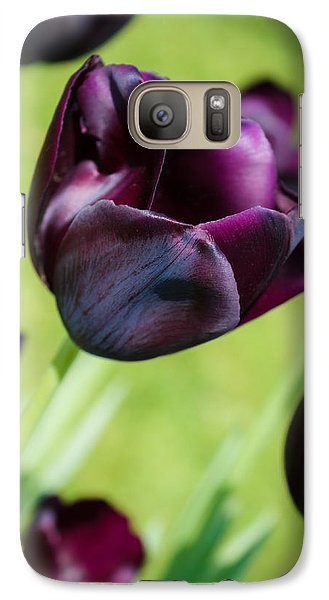 Galaxy Case featuring the photograph Queen Of The Night Black Tulips by Peta Thames