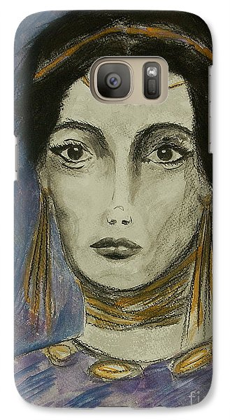 Galaxy Case featuring the painting Queen Of The Nile by Tamyra Crossley