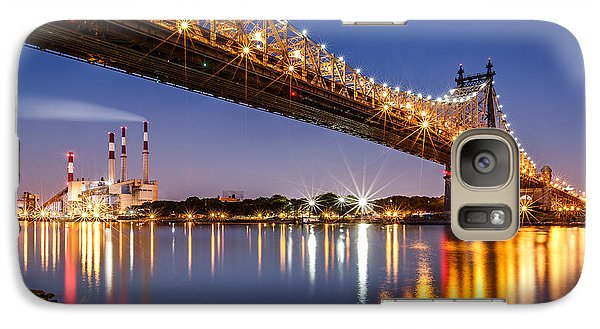 Galaxy Case featuring the photograph Queensboro Bridge by Mihai Andritoiu