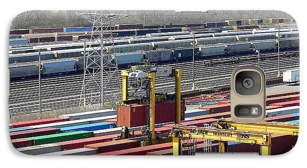 Galaxy Case featuring the photograph Queensgate Yard Cincinnati Ohio by Kathy Barney