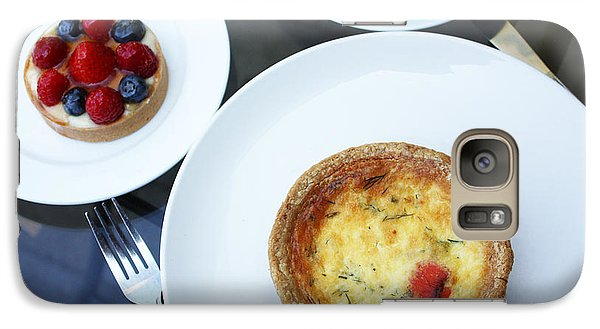Galaxy Case featuring the photograph Quiche And Tart by Gerry Bates