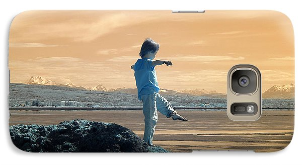 Galaxy Case featuring the photograph Quiet Beach by Rebecca Parker