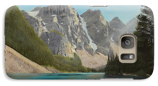 Galaxy Case featuring the painting Quiet Day by Glenn Beasley